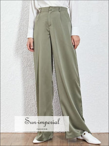 Kimberly Pants -loose Casual Trousers for Women High Waist Wide Leg Pants