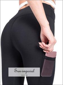 Ladies Casual Loose Exercise Pocket Fitness Gym Running Yoga Trousers High Elastic SUN-IMPERIAL United States