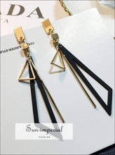 Long Statement Geometric Triangle Dangle Drop Earrings for Women SUN-IMPERIAL United States