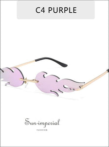 Luxury Fashion fire Flame Women Sunglasses - Pink