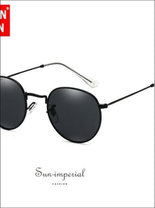 Luxury Mirror Sunglasses Women/men Round Sun Glasses SUN-IMPERIAL United States