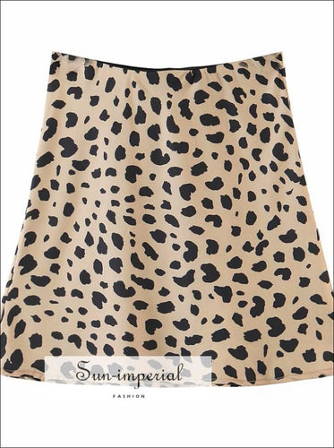 Mini Leopard Print Skirt High Waist Casual chick sexy style SUN-IMPERIAL United States