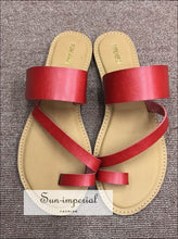 Multi Toe Ring Sandals Blush Multi
