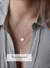 Multilayer Necklaces & Pendants for Women Gold Silver Color Long Chain Pendant