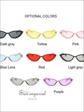 New Vintage Transparent Frame Women Cat Eye Light Gray Sunglasses SUN-IMPERIAL United States