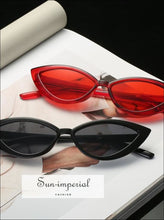 New Vintage Transparent Frame Women Cat Eye Red Sunglasses SUN-IMPERIAL United States