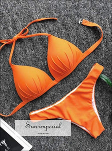 Padded Bikini Set Halter Swimsuit SUN-IMPERIAL United States