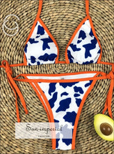 Plunge Cow Print Bikini Set best seller, bikini, bikini set, COW PRINT BIKINI, hot SUN-IMPERIAL United States