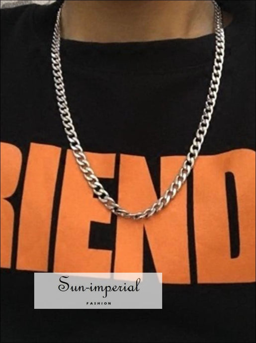 punk stainless steel necklace hip-hop chain Rock band jewelry 5 7 9 SUN-IMPERIAL United States