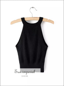 Ribbed Knitted Tank top