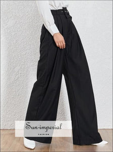 Rothschild Pant - Casual Black and khaki Trousers For Women High Waist s Loose Wide Leg Pants Casual Black Trousers Fashion Clothes High