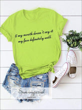 Running T-shirt Loose Women Summer Sports Short-sleeved plus Size Tshirt Ladies Letter Simple Tops