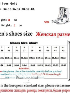 Sliver Gold Women Ankle Boots Pointed Toe Chunky High Heel Boots Mirror Metallic Women Pumps