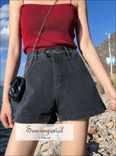Streetwear women loose Denim High Waist Shorts BASIC SUN-IMPERIAL United States