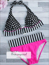 Striped Split Swimsuit SUN-IMPERIAL United States