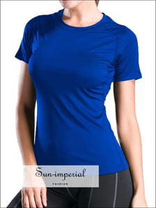 Summer T-shirt Women plus Size Short-sleeved Sports Quick-drying Performance T Shirt Ladies Slim SUN-IMPERIAL United States