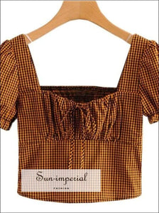 Sun-imperial Fashion Plaid Women Blouse Shirt Elegant Tops Female England Style Summer Blouses