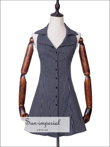 Sun-imperial Halter Neck Button through Plaid Sundress High Street Fashion SUN-IMPERIAL United States
