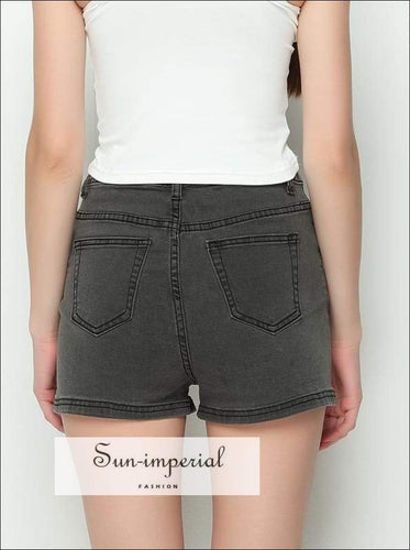 Sun-imperial High Quality!! 2016 Summer Women High Waist Denim Shorts Female Short Jeans 3 Colors