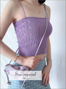 Sun-imperial Knitted Cable Vest top High Street Fashion SUN-IMPERIAL United States