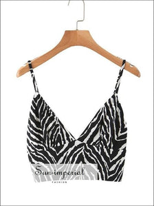 Sun-imperial Leopard Bustier top Snake Print Crop Tops Summer Fashion Cropped Feminino SUN-IMPERIAL United States