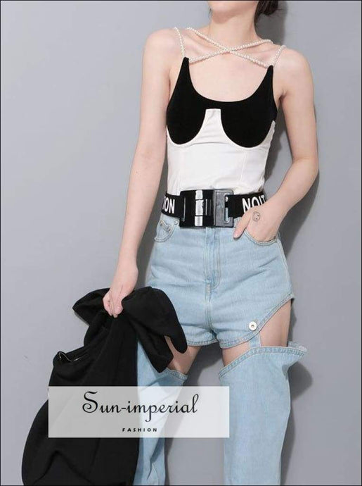 Sun-imperial new Concave Type Chest U Wrap Woman Fashion Short Vest vintage SUN-IMPERIAL United States