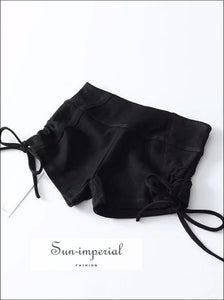 Sun-imperial Women Training Booty Shorts with side Drawstring detail High Street Fashion
