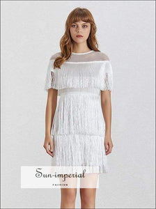 Sydney Dress- Summer Lace Women's Dress O Neck Short Sleeve High Waist Slim 2019 a Line A Dresses, Waist, Neck, Sleeve, vintage SUN-IMPERIAL