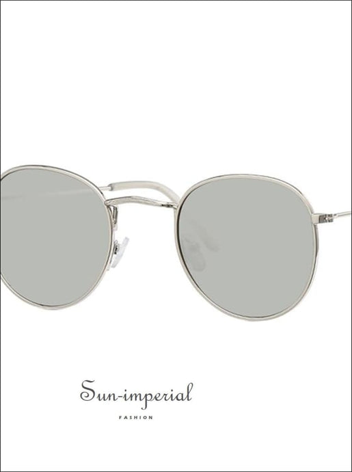 Vintage Oval Sunglasses Women Clear Lens Eyewear Round Sun Glasses for Female - Silver Frame SUN-IMPERIAL United States