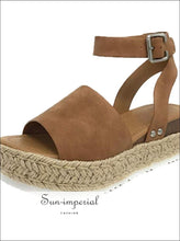 Wedges Shoes for Women High Heels Sandals Summer Outdoor SUN-IMPERIAL United States
