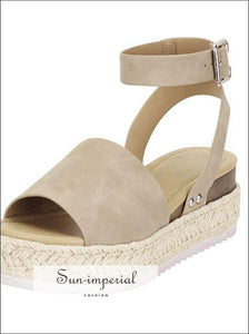Wedges Shoes for Women High Heels Sandals Summer Outdoor - White SUN-IMPERIAL United States