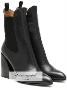 Women Ankle boots high heel classic Chelsea boots SUN-IMPERIAL United States