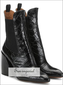 Women Ankle Boots High Heel Classic Chelsea SUN-IMPERIAL United States