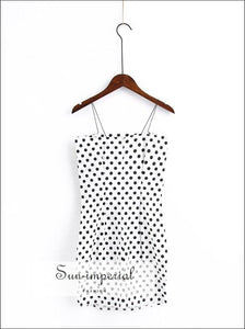 Women Cami Bodycon Polka Dot Mini Dress BASIC SUN-IMPERIAL United States