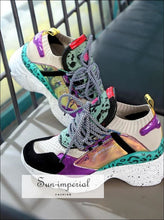 Women Casual Colored Chunky Dad Sneakers