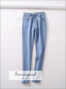 Women Casual Skinny Jeans Good Elastic BASIC SUN-IMPERIAL United States