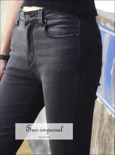 Women Casual Skinny Jeans Good Elastic Jeans BASIC SUN-IMPERIAL United States
