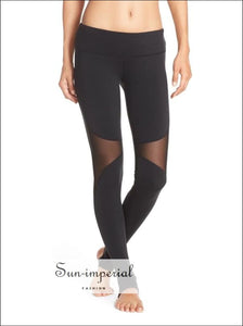 Women Fashion Sheer Mesh Inserts Leggings Stirrup SUN-IMPERIAL United States