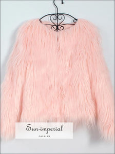 Women Faux Fur Coat Fluffy Warm Long Sleeve Outerwear SUN-IMPERIAL United States
