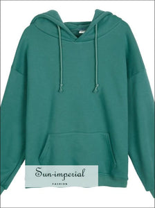 Women Fleece Hoodies Sweatshirts solid Oversize Sweatshirt SUN-IMPERIAL United States