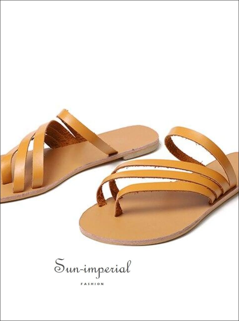 Women Flip Flops Open Toe Slippers Roman Beach Flats Sandals
