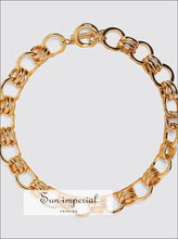 Women Gold Color Chain Necklace Temperament Charm Statement SUN-IMPERIAL United States