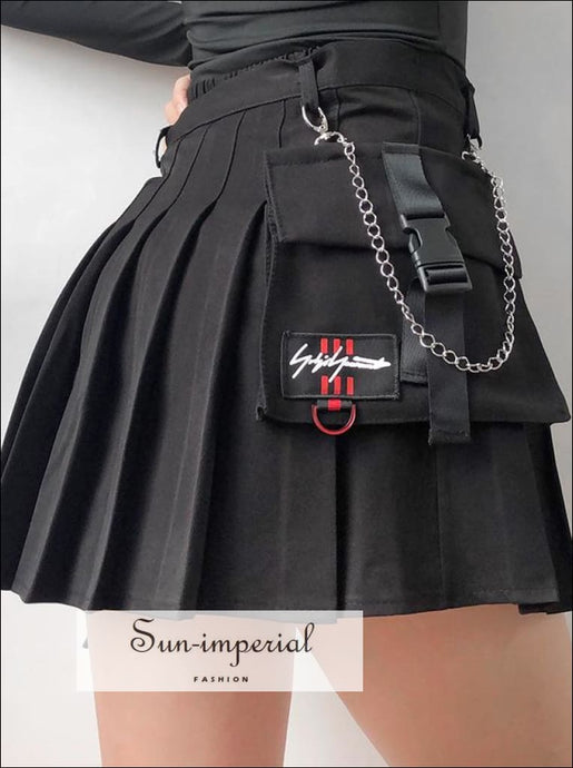 Women grid checkers Wrap Mini Skirt with Horn Buckle Preppy Korean style skirt SUN-IMPERIAL United States