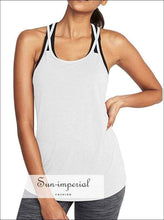 Women Gym Fitness Breathable T-shirt Yoga Tops Quick Dry Loose Running Tshirt Halter Sling Ladies