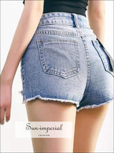 Women High Waist Jeans Shorts Denim Shorts