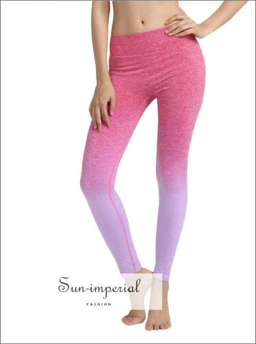 Women High Waist Sports Gym Yoga Running Fitness Leggings Pants Yoga Pants SUN-IMPERIAL United States