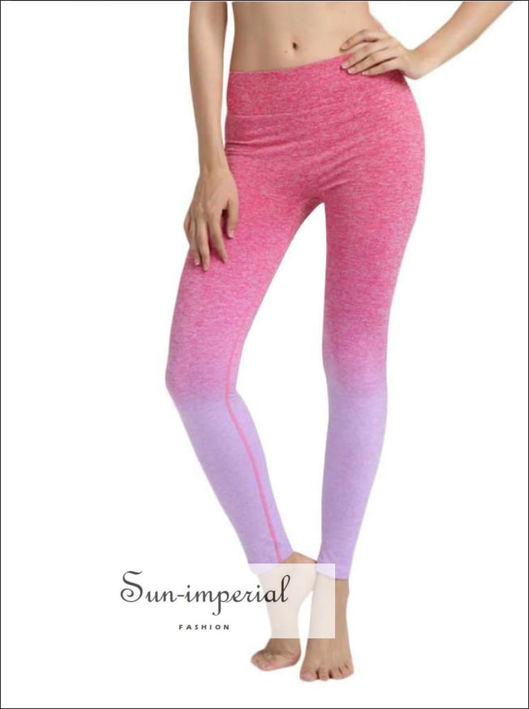 Women High Waist Sports Gym Yoga Running Fitness Leggings Pants SUN-IMPERIAL United States