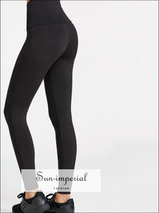 Women Lace up Wide Waistband Leggings SUN-IMPERIAL United States