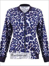 Women Leopard Sports Casual Jacket Pocket Long Sleeve Coat plus Size Simple Running Training Ladies