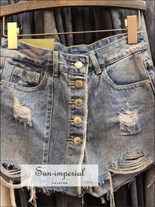 Women Mini Denim Skirts A-line Slim Jeans BASIC SUN-IMPERIAL United States